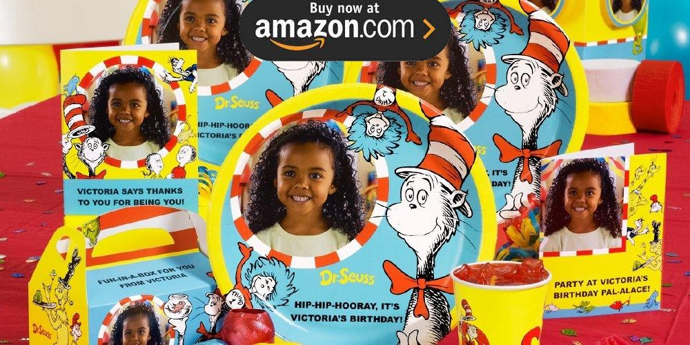 Dr Seuss Personalized Party Supplies