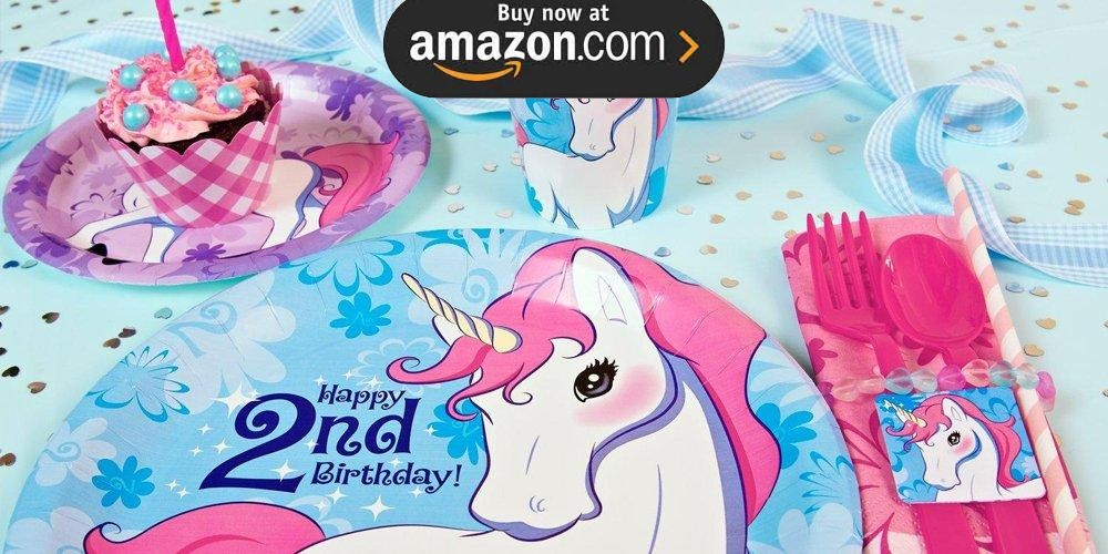 Enchanted Unicorn 2nd Birthday Party Supplies