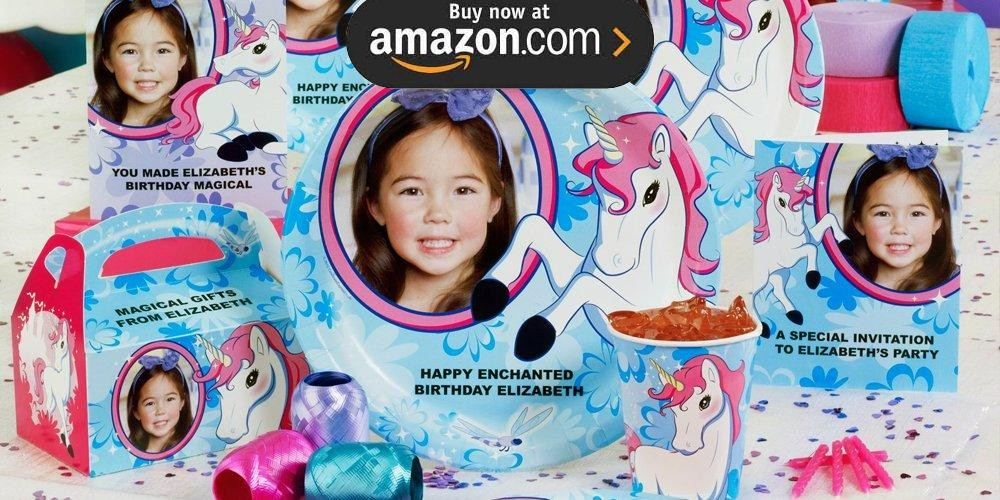 Enchanted Unicorn Personalized Party Supplies