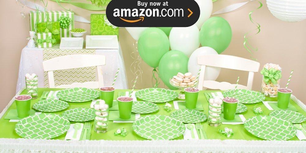 Fresh Lime Quatrefoil Party Supplies