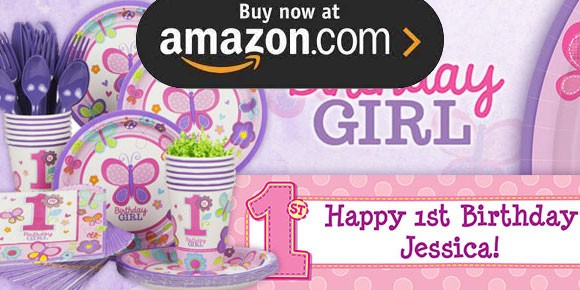 Hugs and Stitches Girl 1st Party Supplies