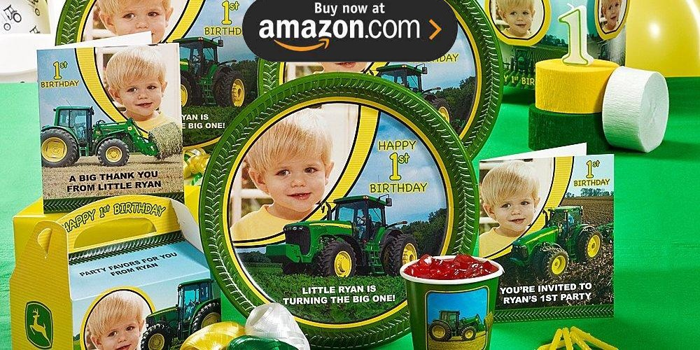 John Deere 1st Birthday Personalized Party Supplies