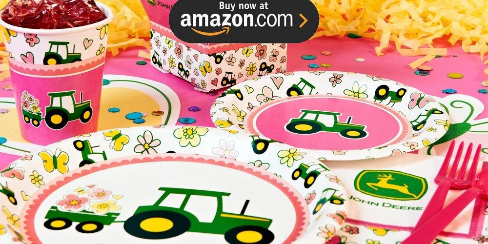 John Deere Pink Party Supplies