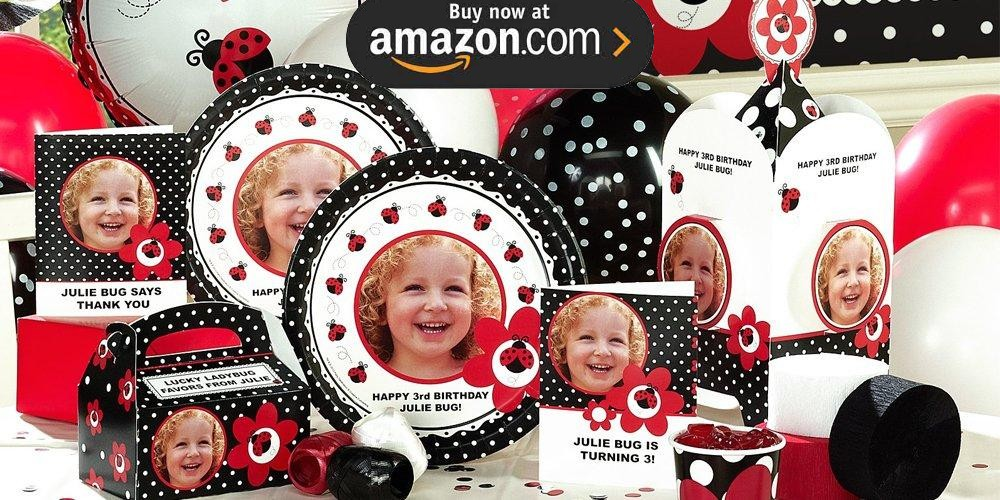 LadyBug Fancy Personalized Party Supplies