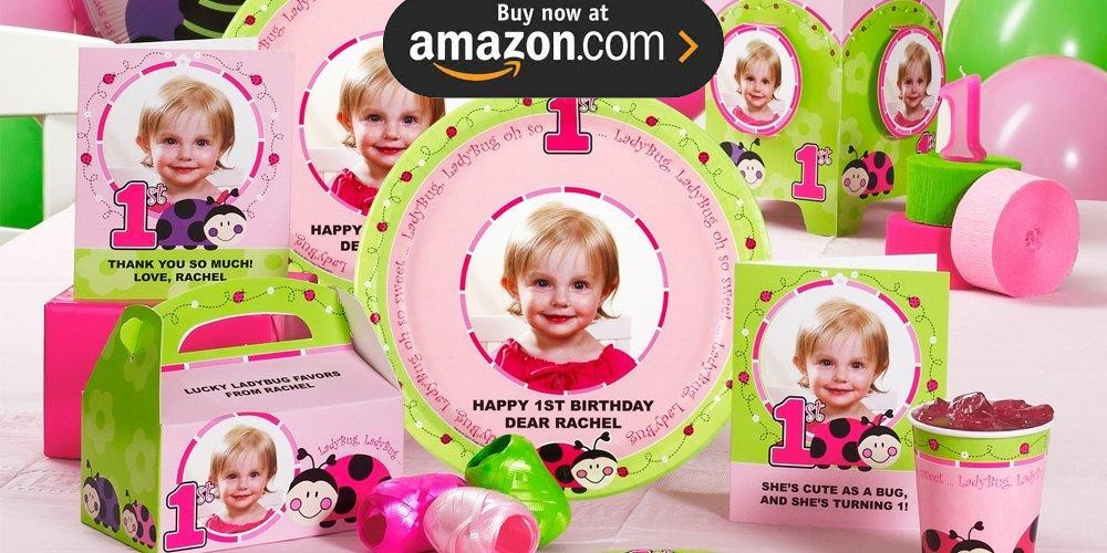 Ladybug Oh So Sweet 1st Birthday Personalized Party Supplies