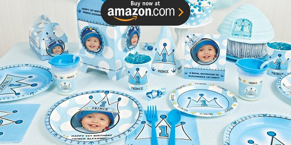 Lil Prince 1st Personalized Party Supplies