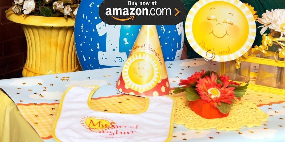 Little Sunshine 1st Birthday Party Supplies