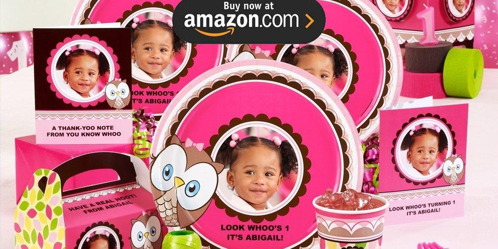 Look Whoos 1 Personalized Party Supplies