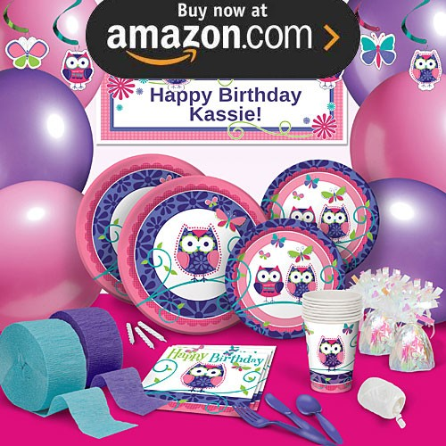 Owl Pal Birthday Party Supplies