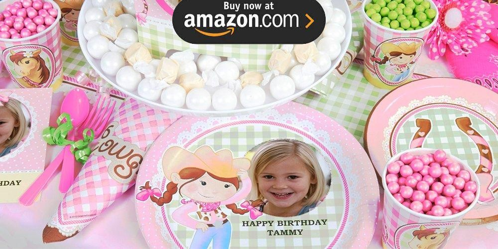 Pink Cowgirl Personalized Party Supplies