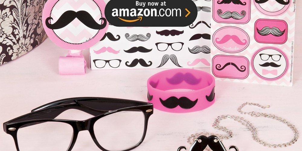 Pink Mustache Party Supplies