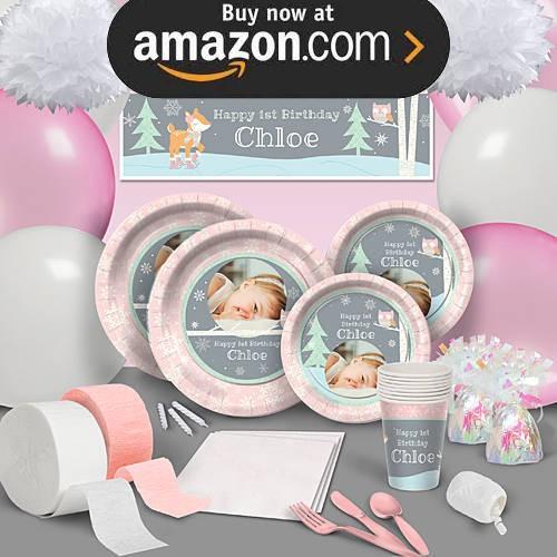 Pink Winter ONEderland Party Supplies