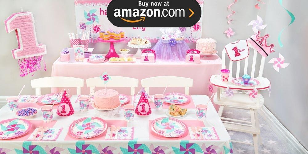 Pinwheel Girl 1st Party Supplies