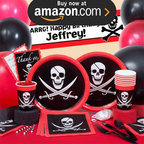 Pirate Skull and Swords Party Supplies