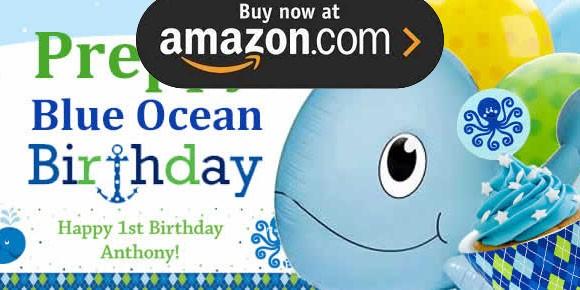Preppy Blue Ocean Party Supplies