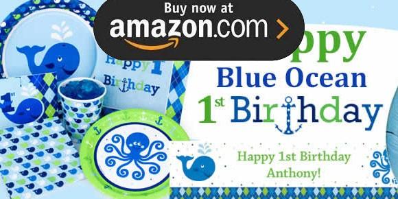 Preppy Boy Ocean 1st Party Supplies