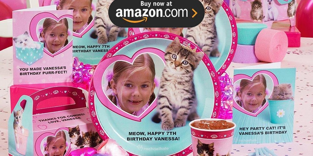 Rachel Hale Glamour Cats Personalized Party Supplies