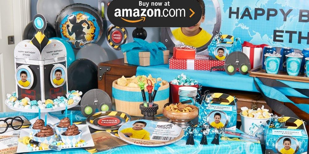 Secret Agent Personalized Party Supplies