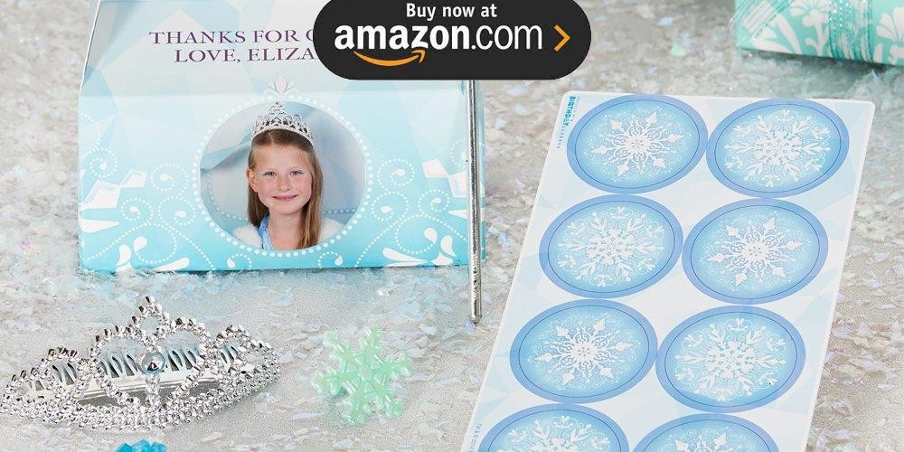 Snowflake Winter Wonderland Personalized Party Supplies