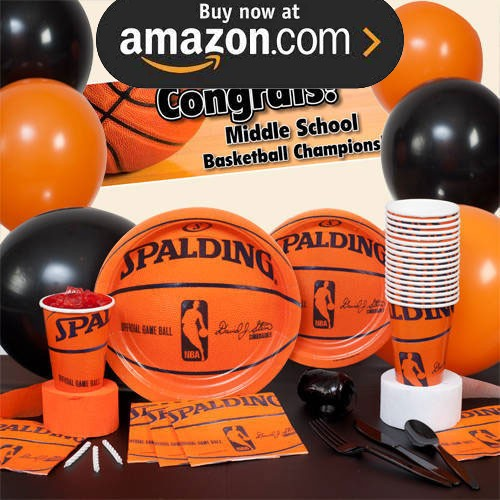 Spalding Basketball Party Supplies