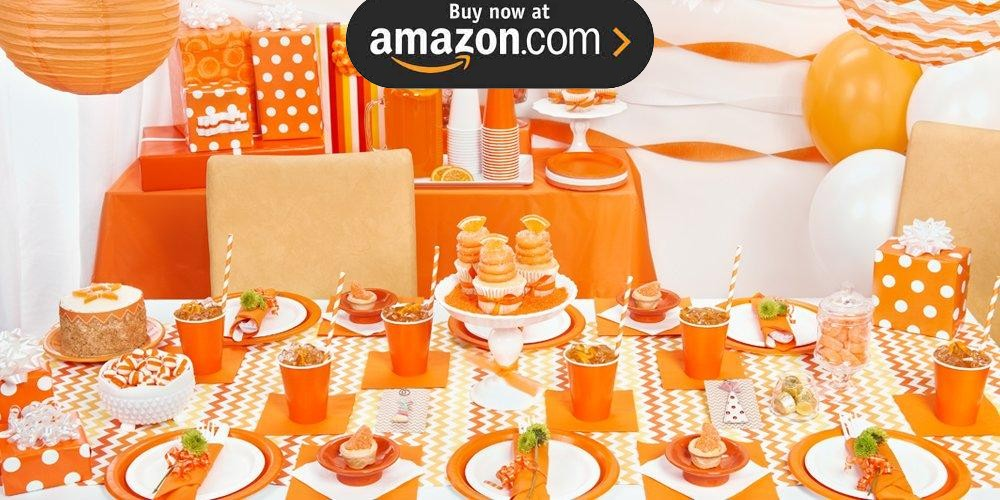 Sunkissed Orange Party Supplies